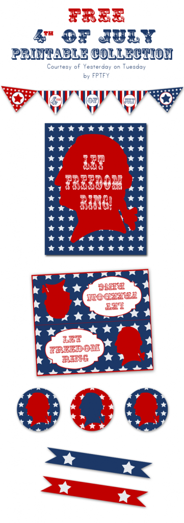 This is an amazing package full of 4th of July Free Printables. All of your guests will be impressed!