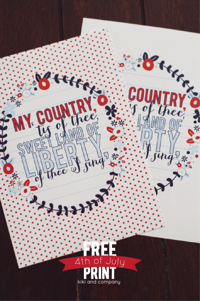 Print these cute wall art printables and display them on your 4th of July Party.