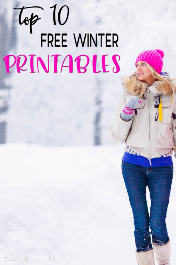 Wintertime brings so many good things, Christmas, New Year, comfort food, cuddling under the covers...AND these top 10 free winter printables.