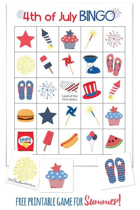 Let me tell you something: Out of all of the Bingo Games out there, this 4th of July one is the most complete!