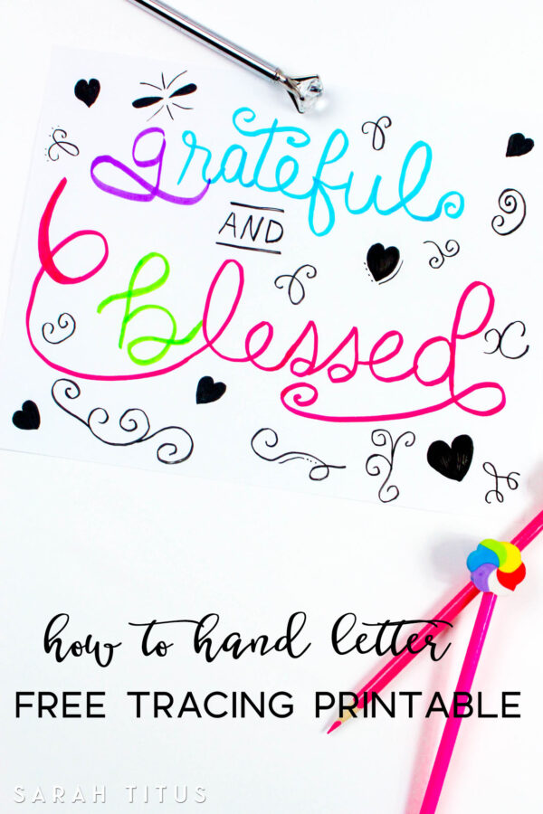 How to Hand Letter {Free Tracing Printable}