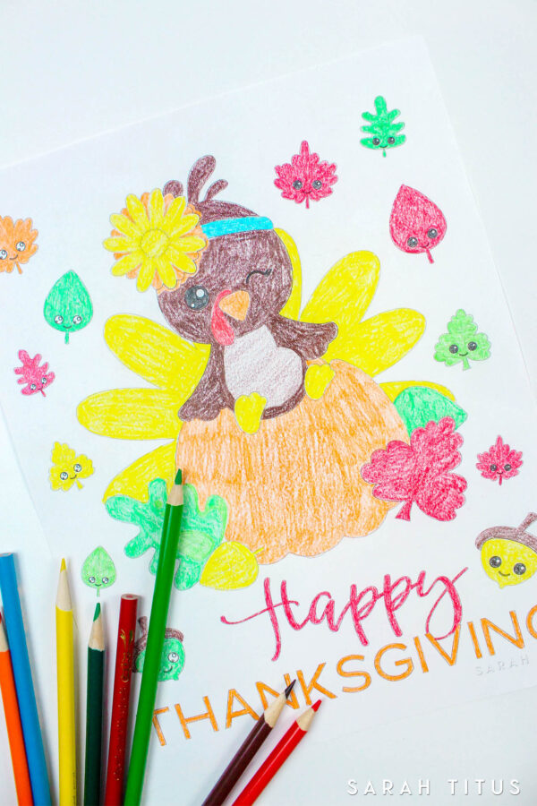 Free Printable Thanksgiving Coloring Sheet