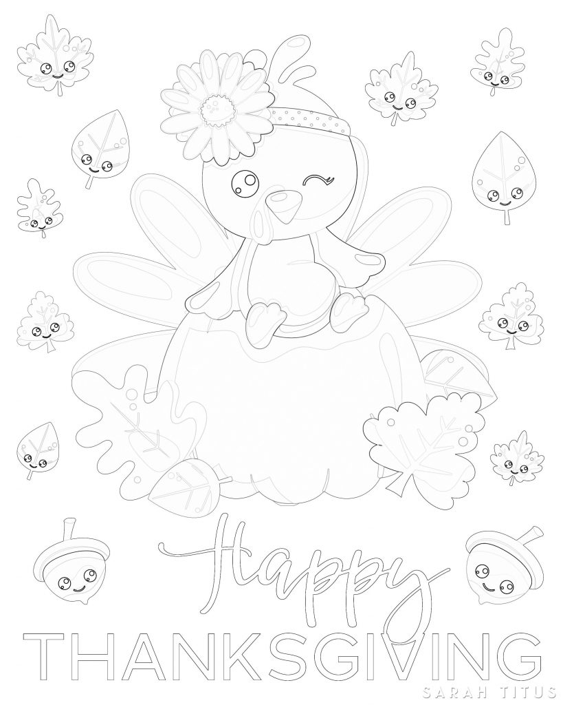 Free Printable Thanksgiving Coloring Sheet - Sarah Titus