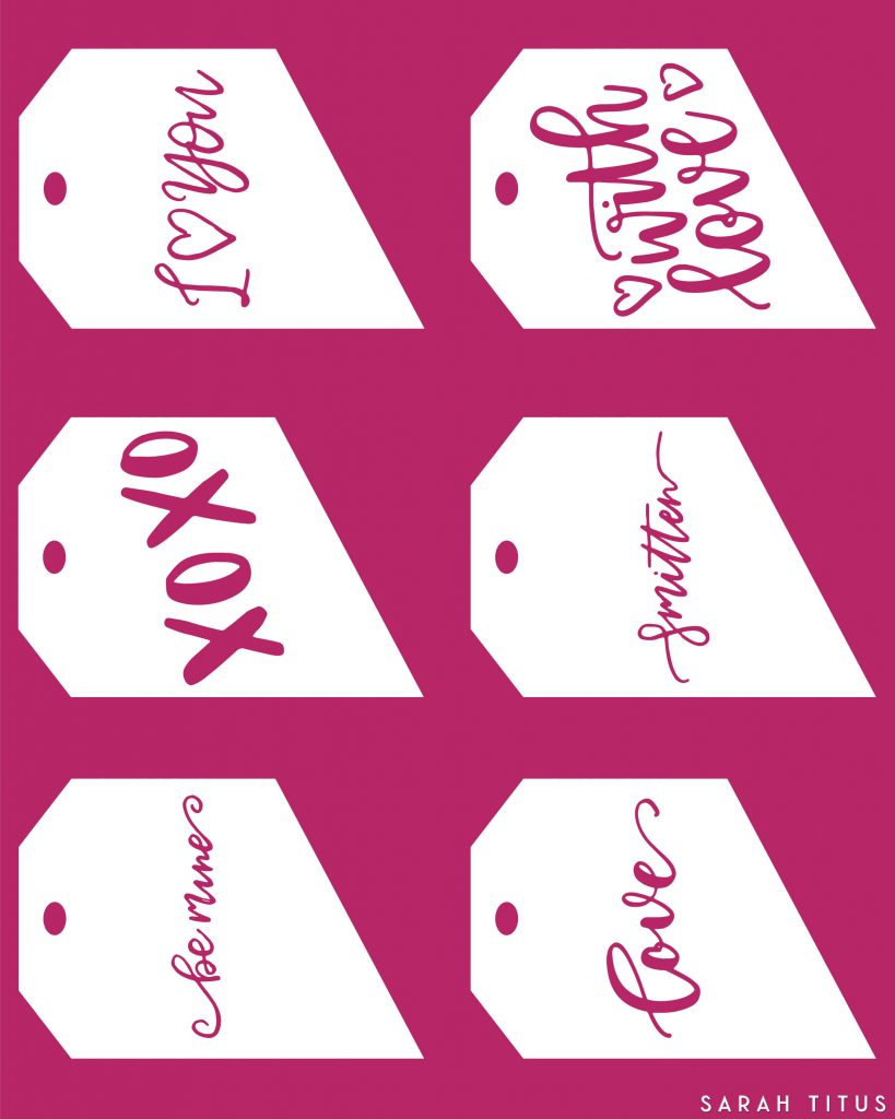 You'll love these free printable Valentine gift tags! Not only will they save you money, but they will make your gift receiver feel special too!
