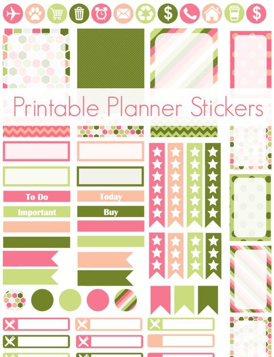 Are you a planner like me? Make sure to download these cool stickers for your Spring planning.