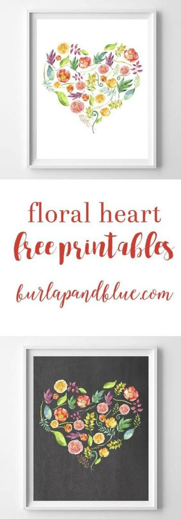 What a lovely floral heart! Print it out and decorate your home, office, or, why not, give it as a present.