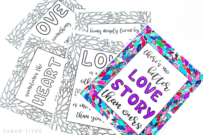 Free Printable Love Quotes Coloring Sheets Sarah Titus