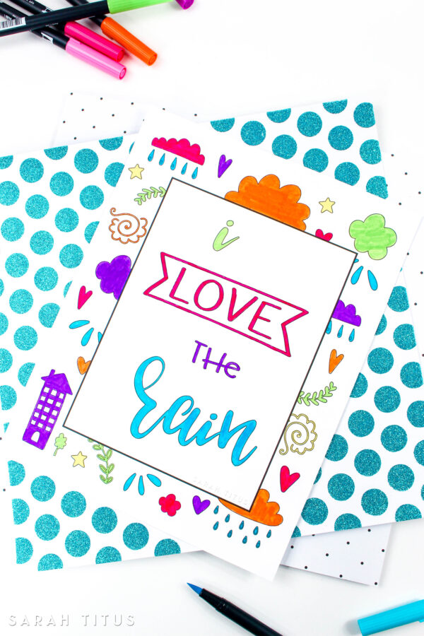 Don't let a rainy day stop you from having fun with your little ones. This Rain Free Printable Coloring Sheet will keep your kids entertained until Mr. Sun comes out and they can go out and play!