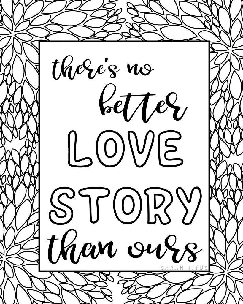 Printable Love Quotes Free Printable Love Quotes Coloring Sheets  Sarah Titus