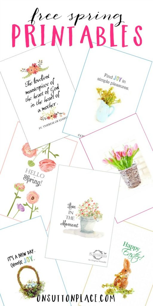 These Spring printables are so beautifully design! Go print them out and hang them on your walls.