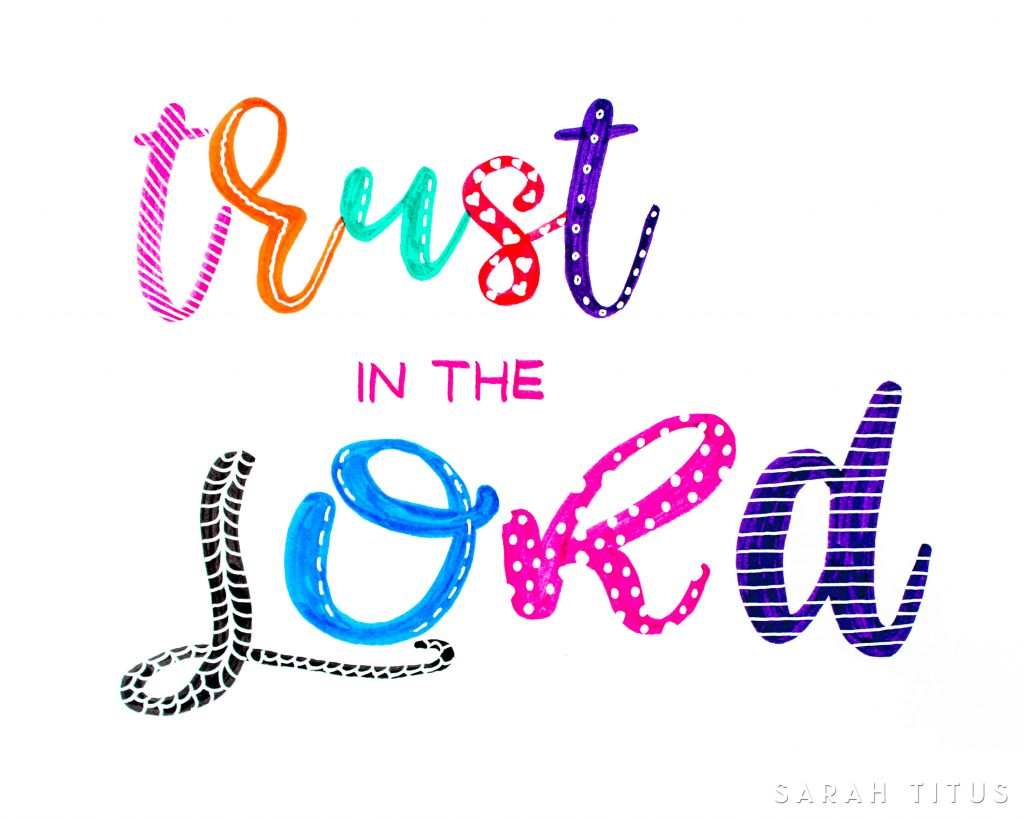 ThisTrust in the Lord Free Wall Sign will look amazing in any spot of your home. Print it and hang it so you remember how important is to place our trust in God!It also serves as an amazing present for someone you love; just print it out and voila!