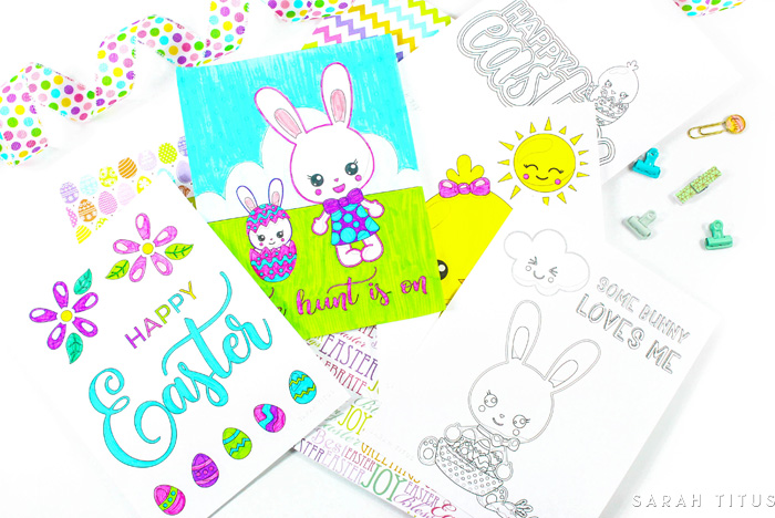 These free printable Easter coloring sheets are simple enough for the youngest artist in your house, but still fun for the more experienced colorist as well, and ESPECIALLY great for those practicing Hand Lettering!