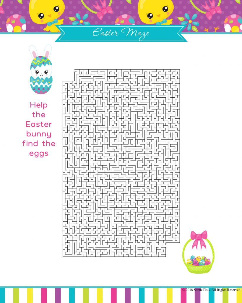graphic about Easter Maze Printable named Absolutely free Printable Easter Game titles Your Relatives Will Appreciate - Sarah Titus