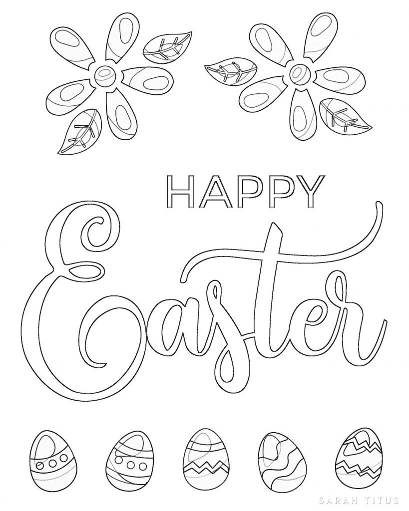 Free Printable Easter Coloring Sheets - Sarah Titus