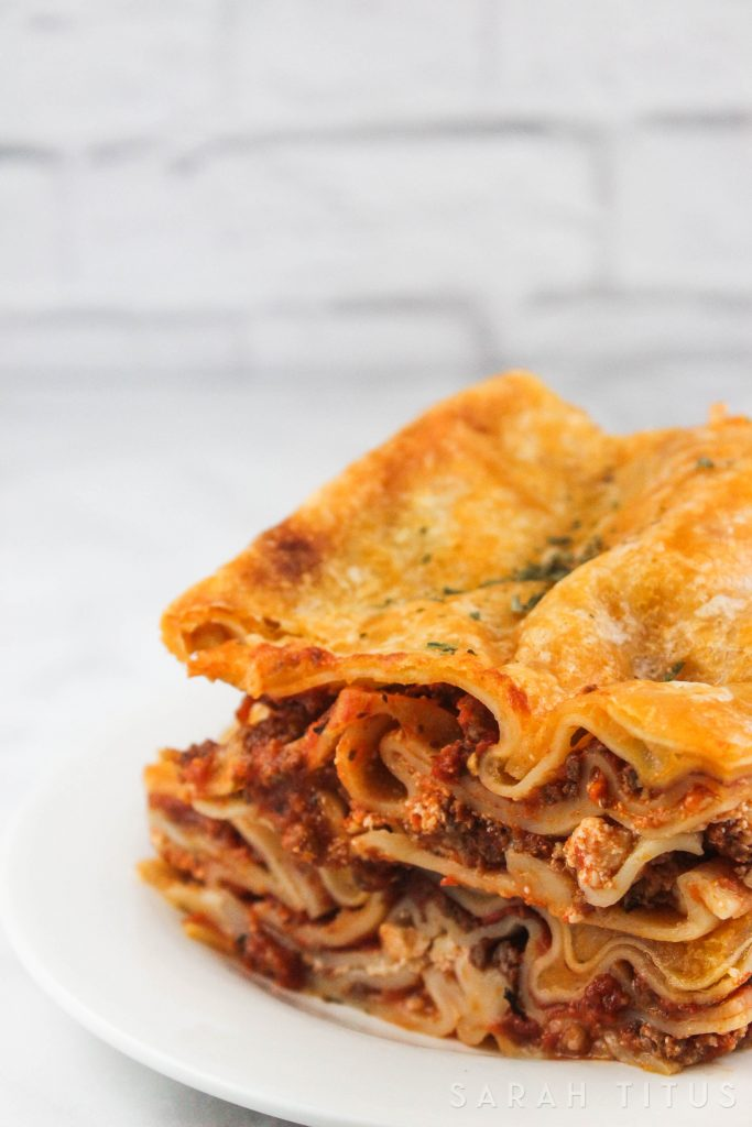 If you are like me, and love Italian cuisine, this Ground Beef and Italian Sausage Lasagna is for you. This simple, but yet delicious recipe will have your family coming back for seconds!