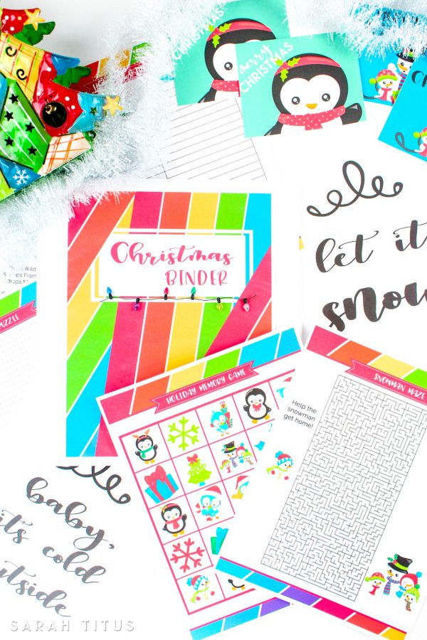 Christmas Binder Free Printables