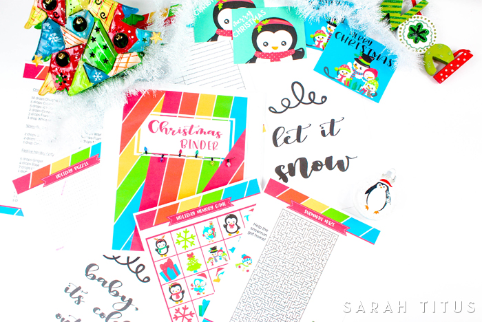 If you love being organized, this Christmas binder free printables set is for you!