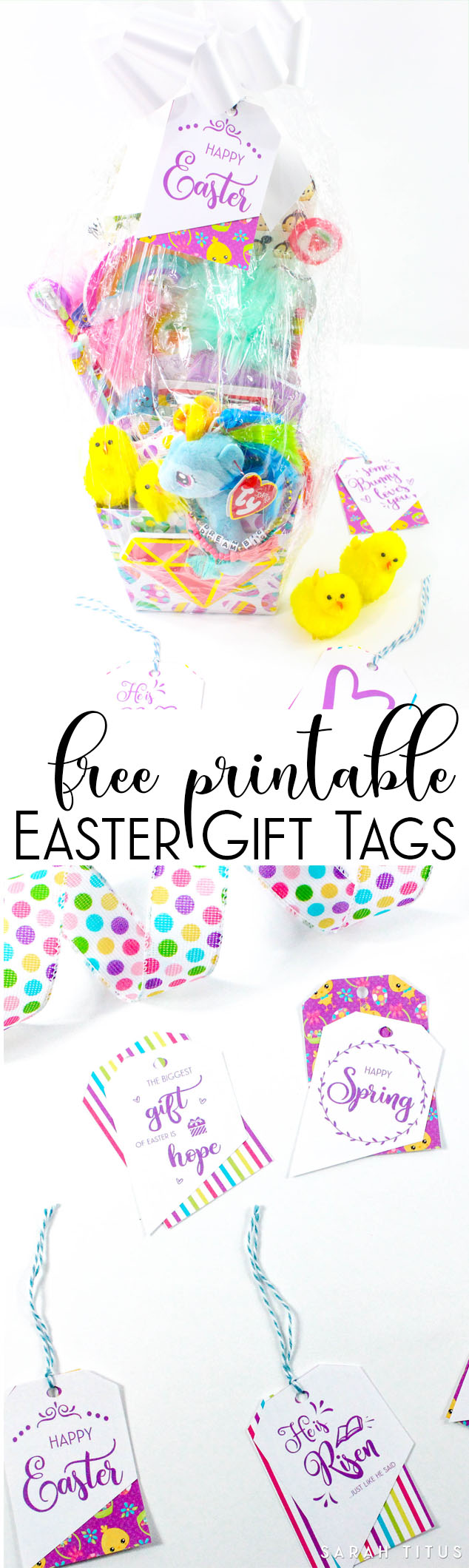 Free printable easter gift tags sarah titus use them for gifts on your easter baskets as place cards as bookmarks negle Choice Image