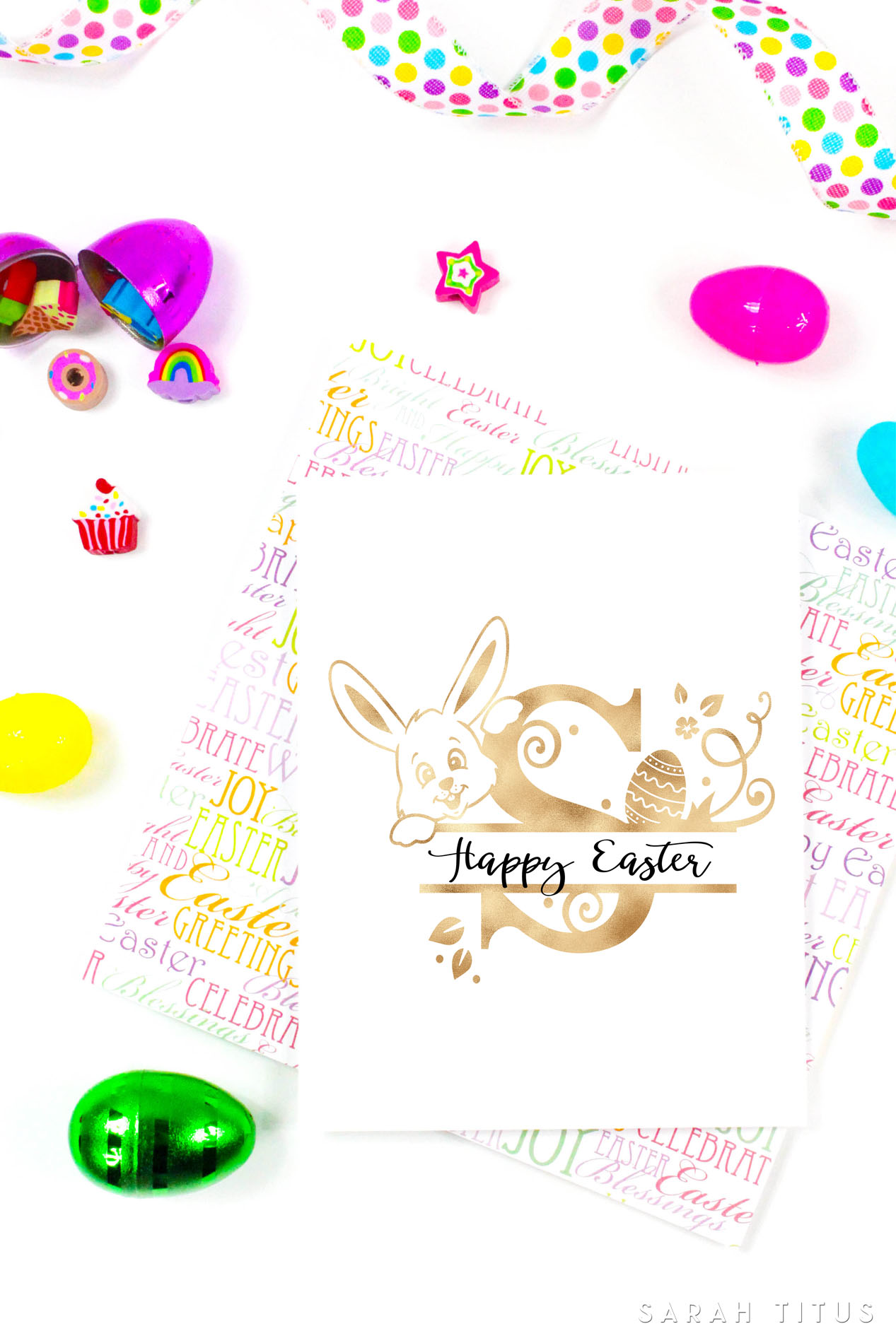 graphic relating to Printable Easter Decorations referred to as Free of charge Printable Easter Monogram Indicators - Sarah Titus