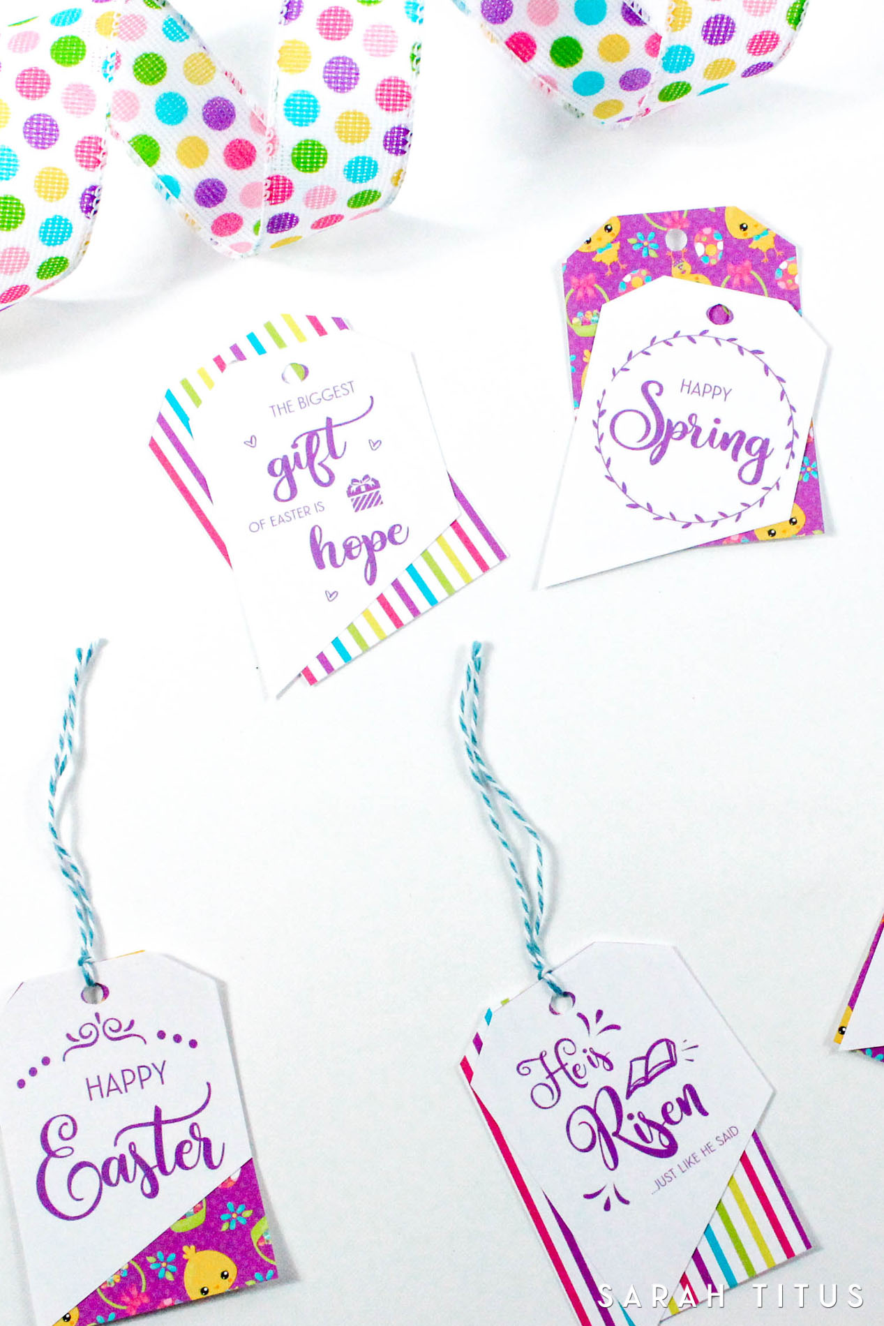 graphic regarding Free Printable Easter Cards Religious named Absolutely free Printable Easter Present Tags - Sarah Titus