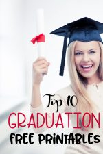 Find ideas for parties, presents, and more, to celebrate with your graduate in these top 10 graduation free printables!