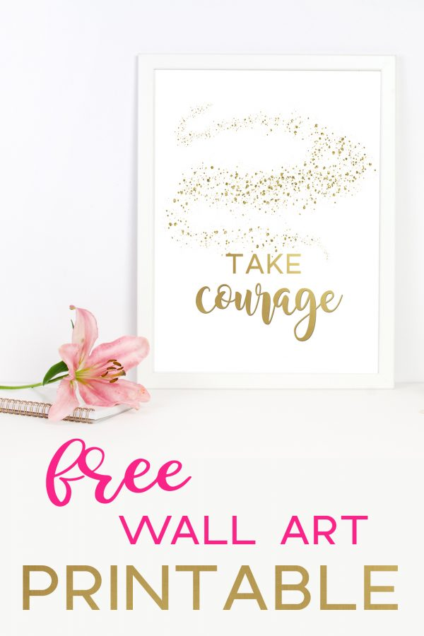 Are you in a place in your life where you are filled with fear? There are a lot of times in our lives when we are afraid. Take Courage with this free printable.