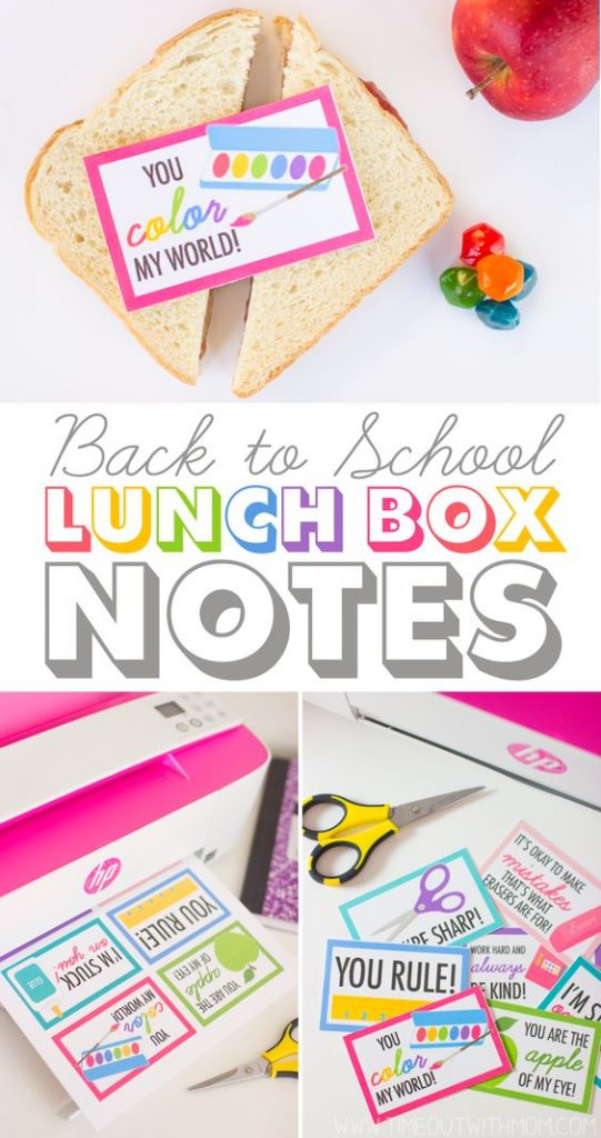 Brighten your kids day by sneaking these cute notes in their lunch boxes.