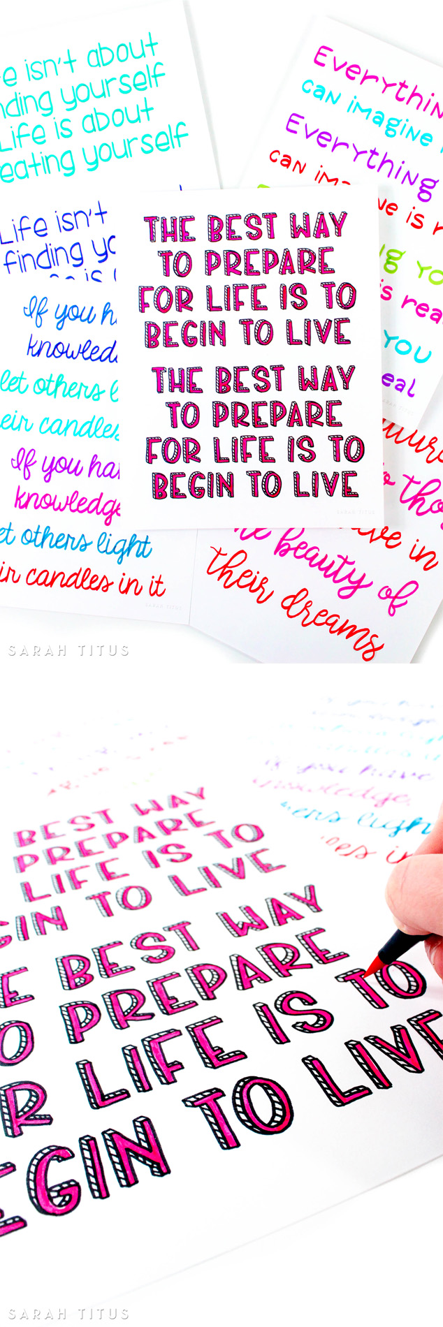 I quickly fell in love with hand lettering and knew I needed to practice to get my skills better. This free 30 days to better hand lettering series is your golden ticket to do the same!