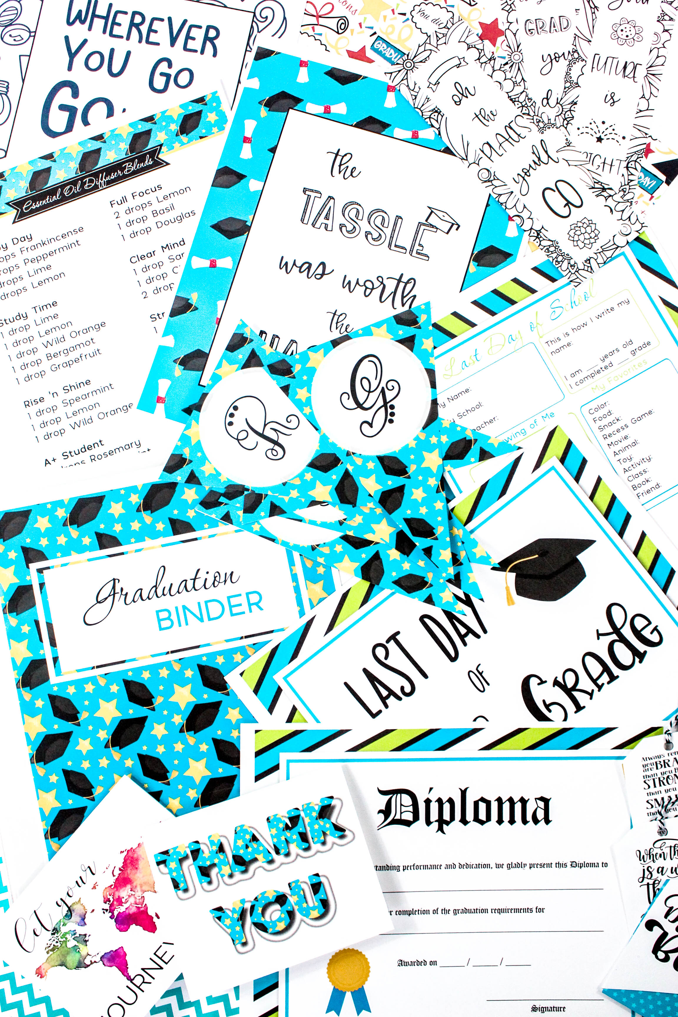 Your child's graduation is one of those special events that can be sweet, fun, and exciting. Celebrate it with this brand new 160+ page Graduation Binder! #graduationbinder #graduation #grad #school #graduationprintables #printables #graduationcards #graduationgifts #graduationdecorations