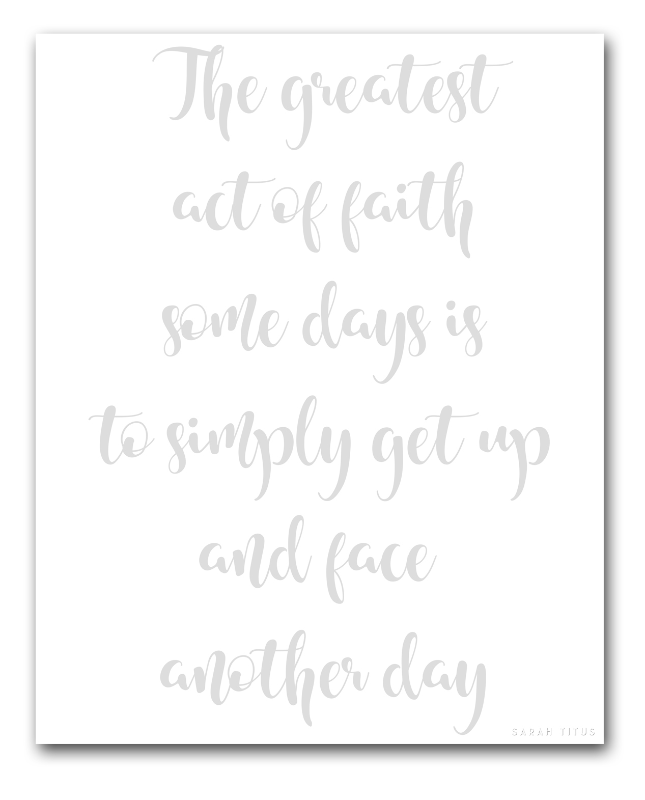 30 Days to Better Hand Lettering Series. I'm posting a new encouraging hand lettering practice sheet for you every day for 30 days! #handlettering #inspirationalquotes #30dayseries #handletteringpracticesheet #freeprintables #printables