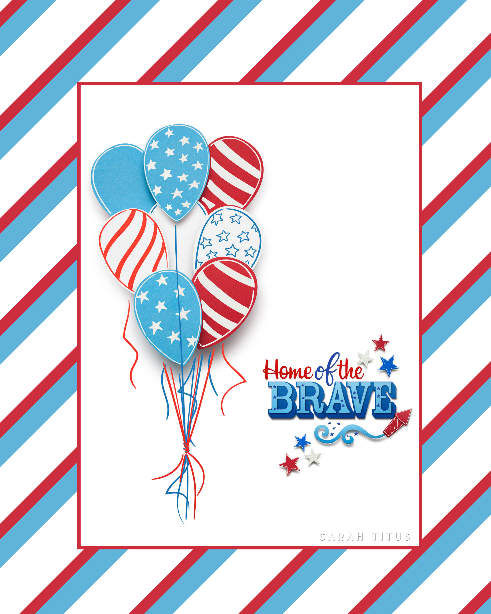Hang this on your door, your wall, or anywhere you want to show your Fourth of July spirit!