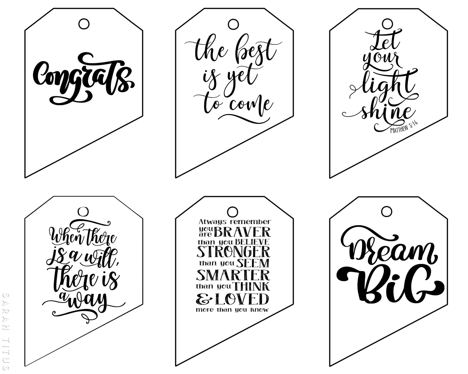 Free printable graduation gift tags sarah titus free printable graduation gift tags negle Gallery