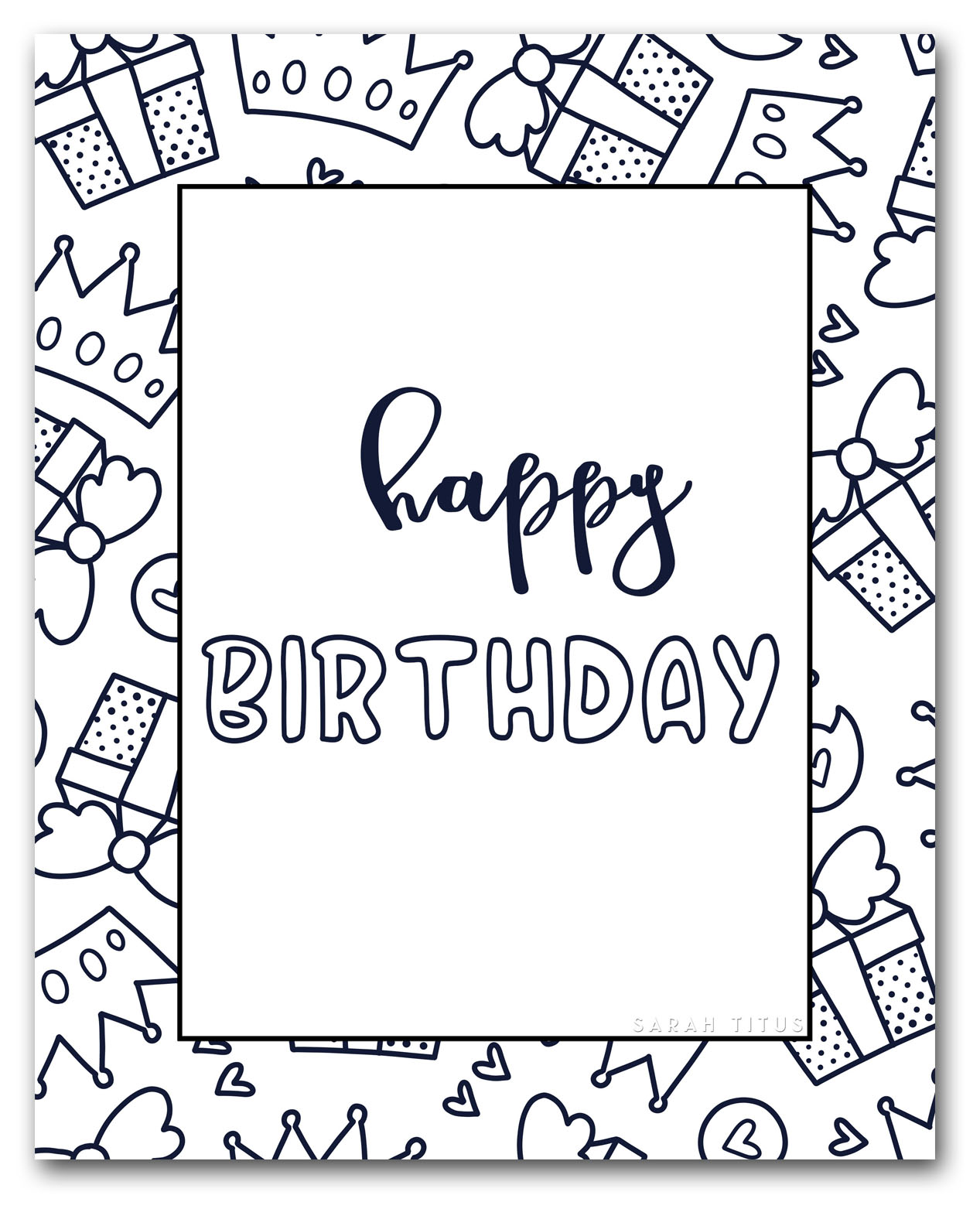 Free Printable Happy Birthday Coloring Sheets Sarah Titus