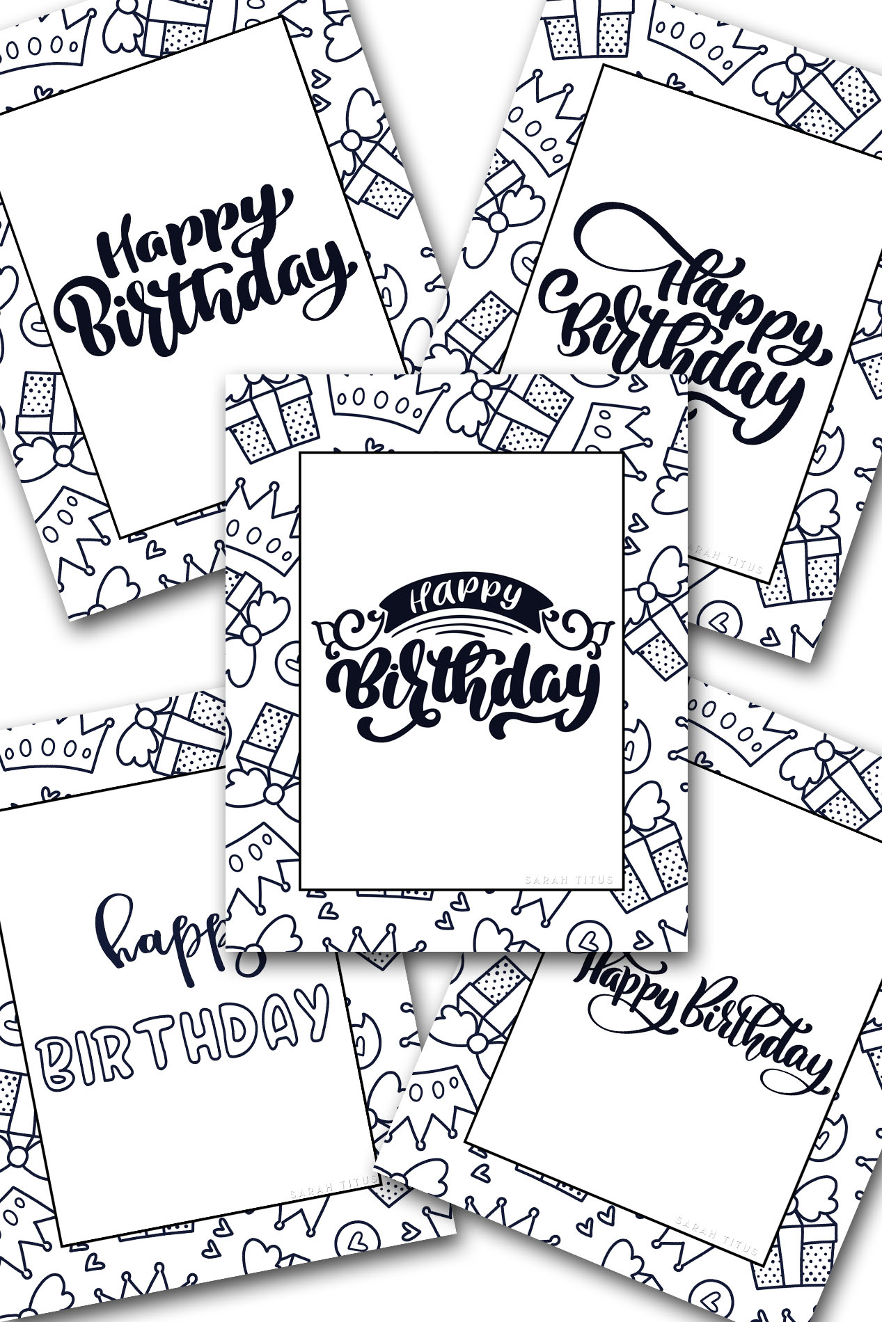 Free Printable Happy Birthday Coloring Sheets - Sarah Titus
