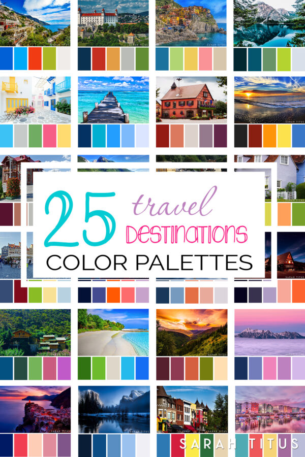 25 Best Travel Destinations Color Palettes