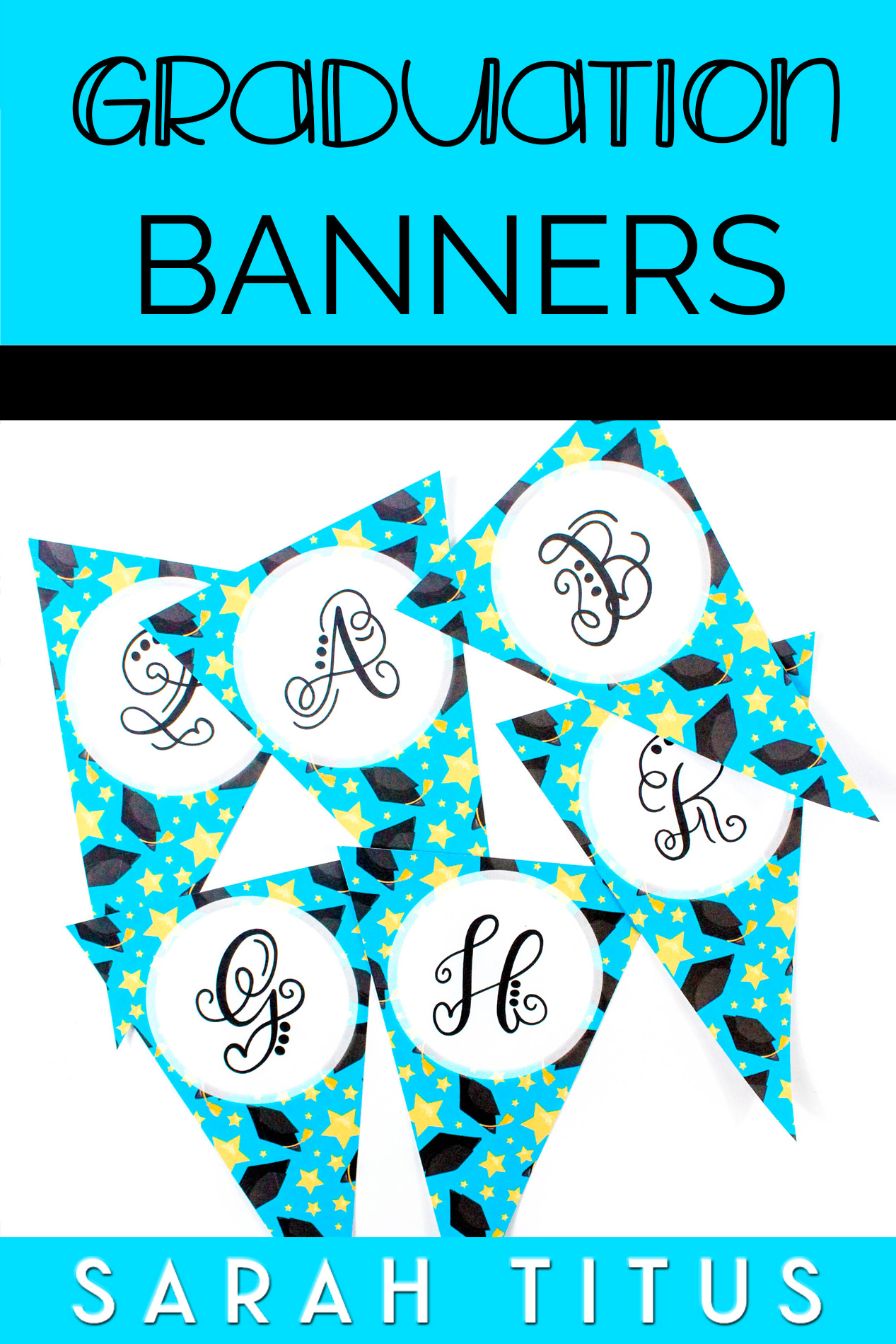 You have a wonderful graduate, and you want to celebrate their hard work. These festive free printable graduation banners will help you do just that! #freeprintables #printables #graduation #graduationdecorations #graduationprintables