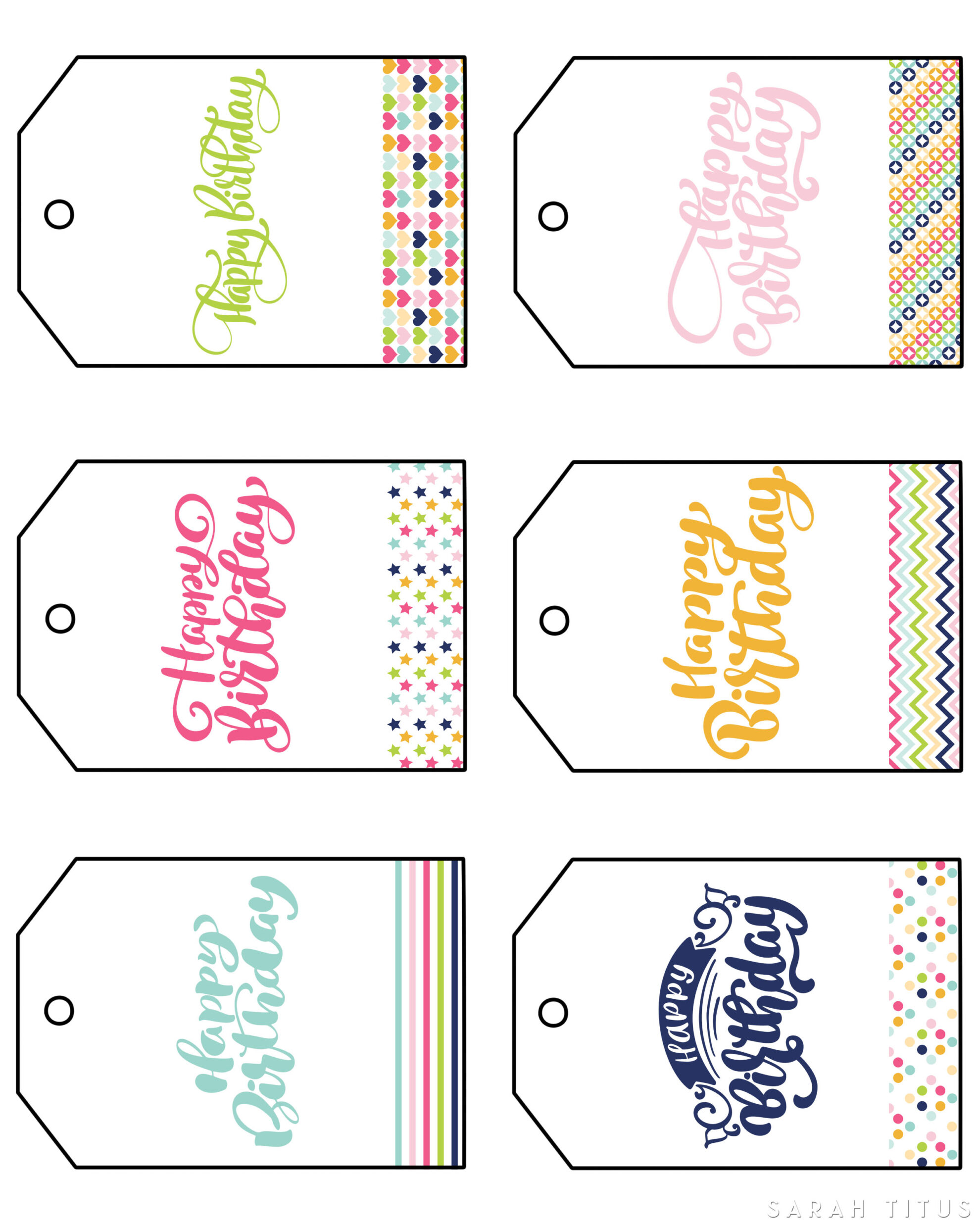 Free Printable Happy Birthday Gift Tags
