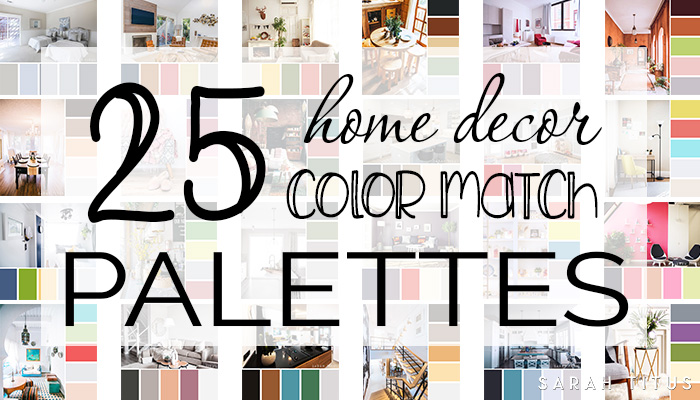 Decorating your home can be overwhelming; especially if you don't have any idea what colors play well together! Get all the inspiration you need with these beautiful 25 Home Decor Color Match Palettes. #colormatch #colorpalettes #homedecor #homepictures #homedecorating #homedecoration
