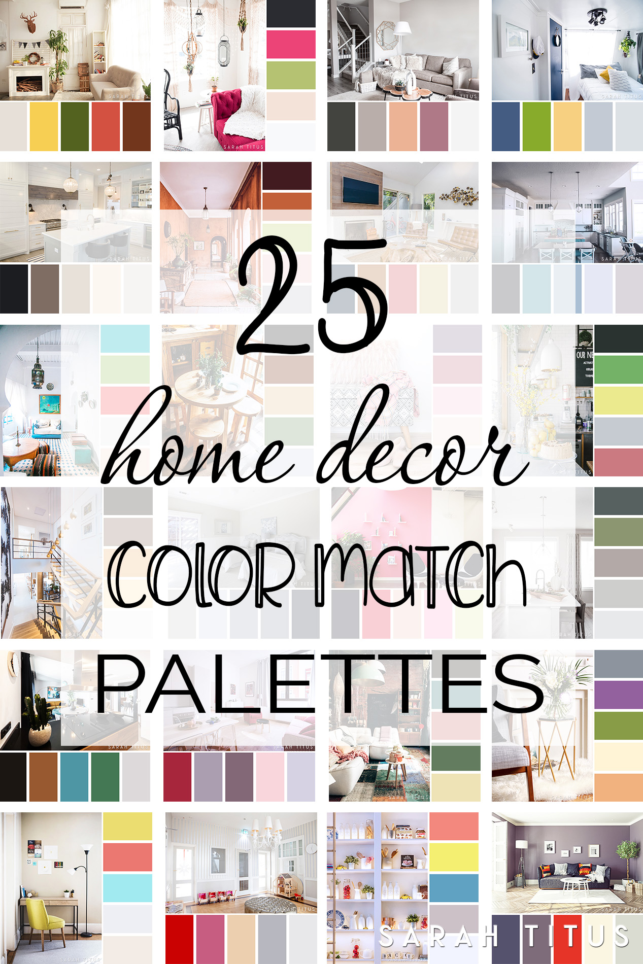 25 Home Decor Color Match Palettes Sarah Titus