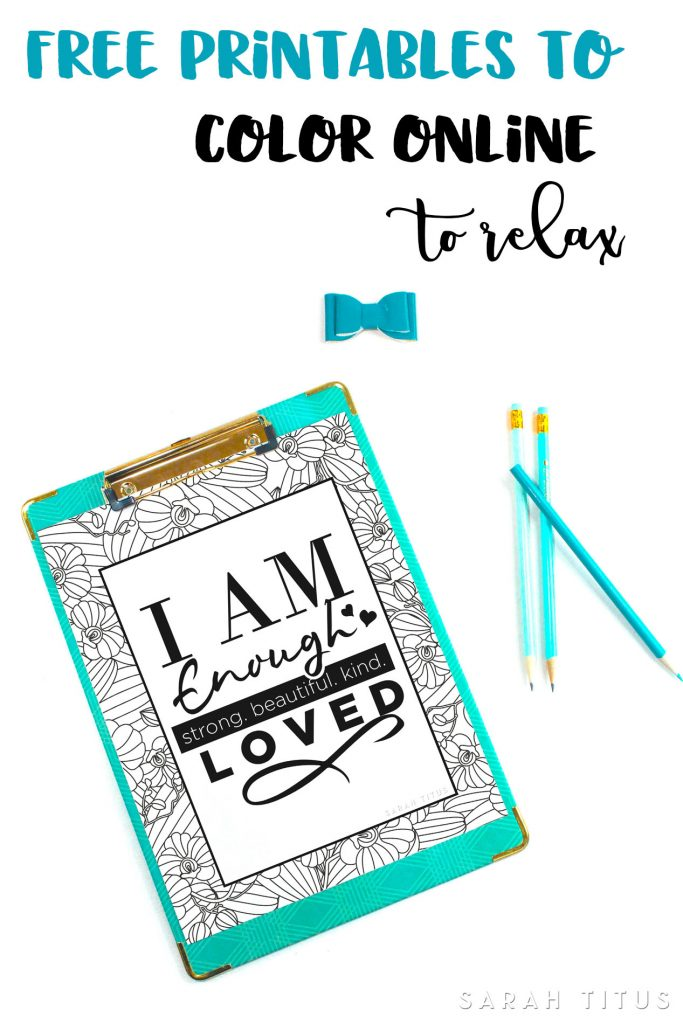 Free Printables to Color Online to Relax - Sarah Titus