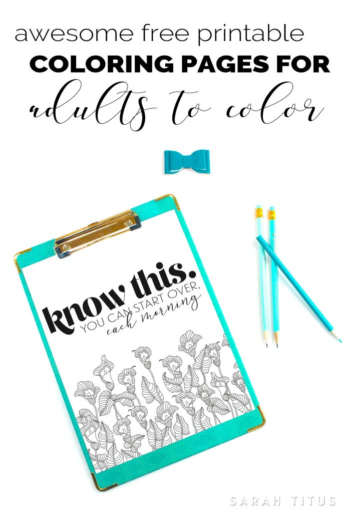 Get both relaxation and motivation with these Awesome Free Printable Coloring Pages for Adults to Color! #coloringpagesforadults #printable #onlinecoloring
