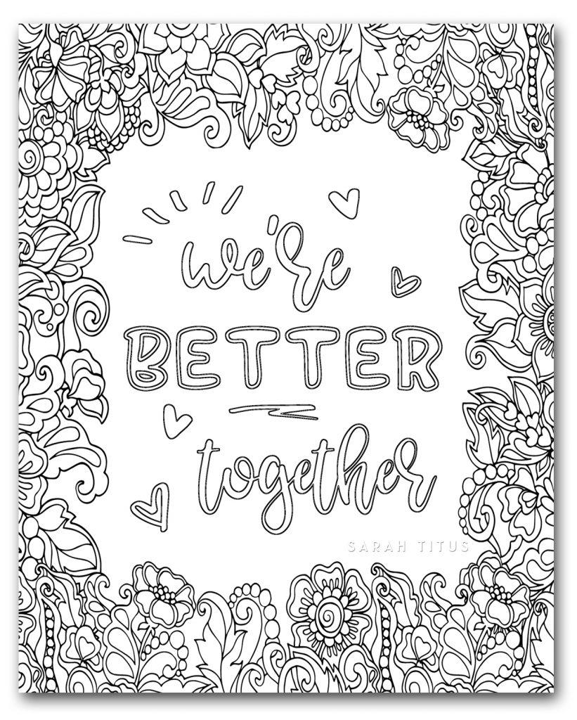 Unique Love Coloring Pages - Sarah Titus