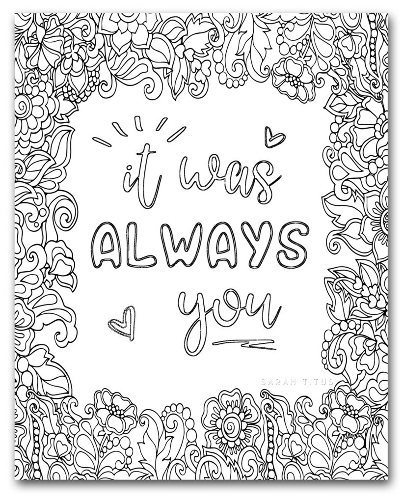 gerety love coloring pages - photo#22