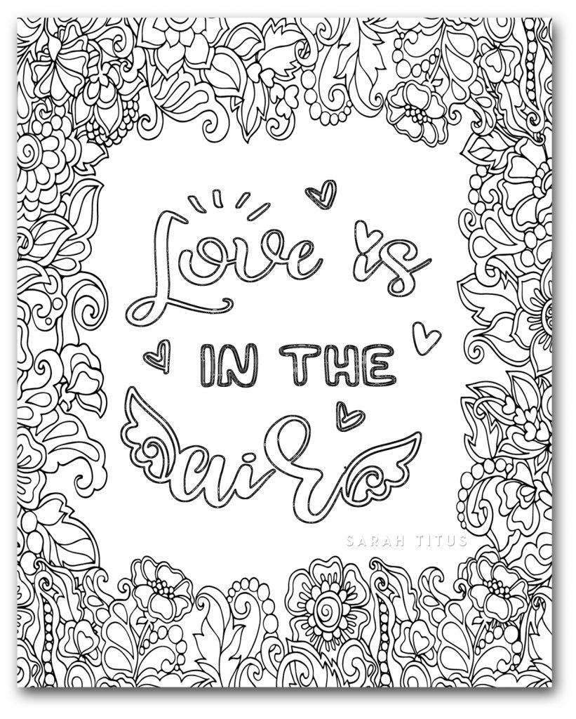 gerety love coloring pages - photo#18