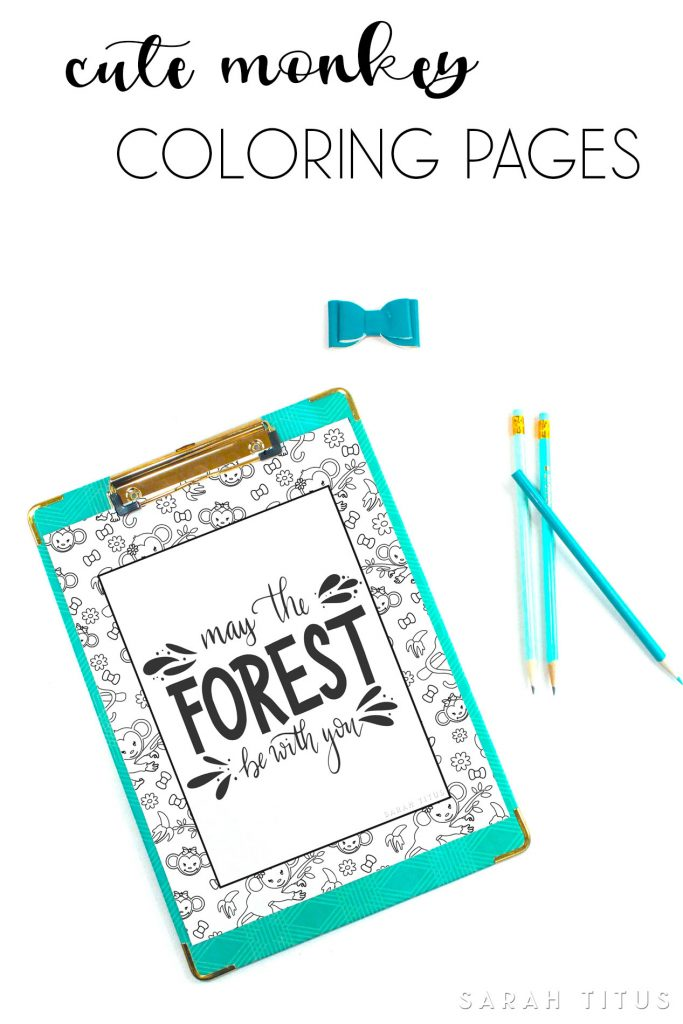 Bring out the monkey in your kids with these Cute Monkey Coloring Pages! #monkeycoloringpages #kidscoloringpages #freeprintablecoloringpages #freeprintables