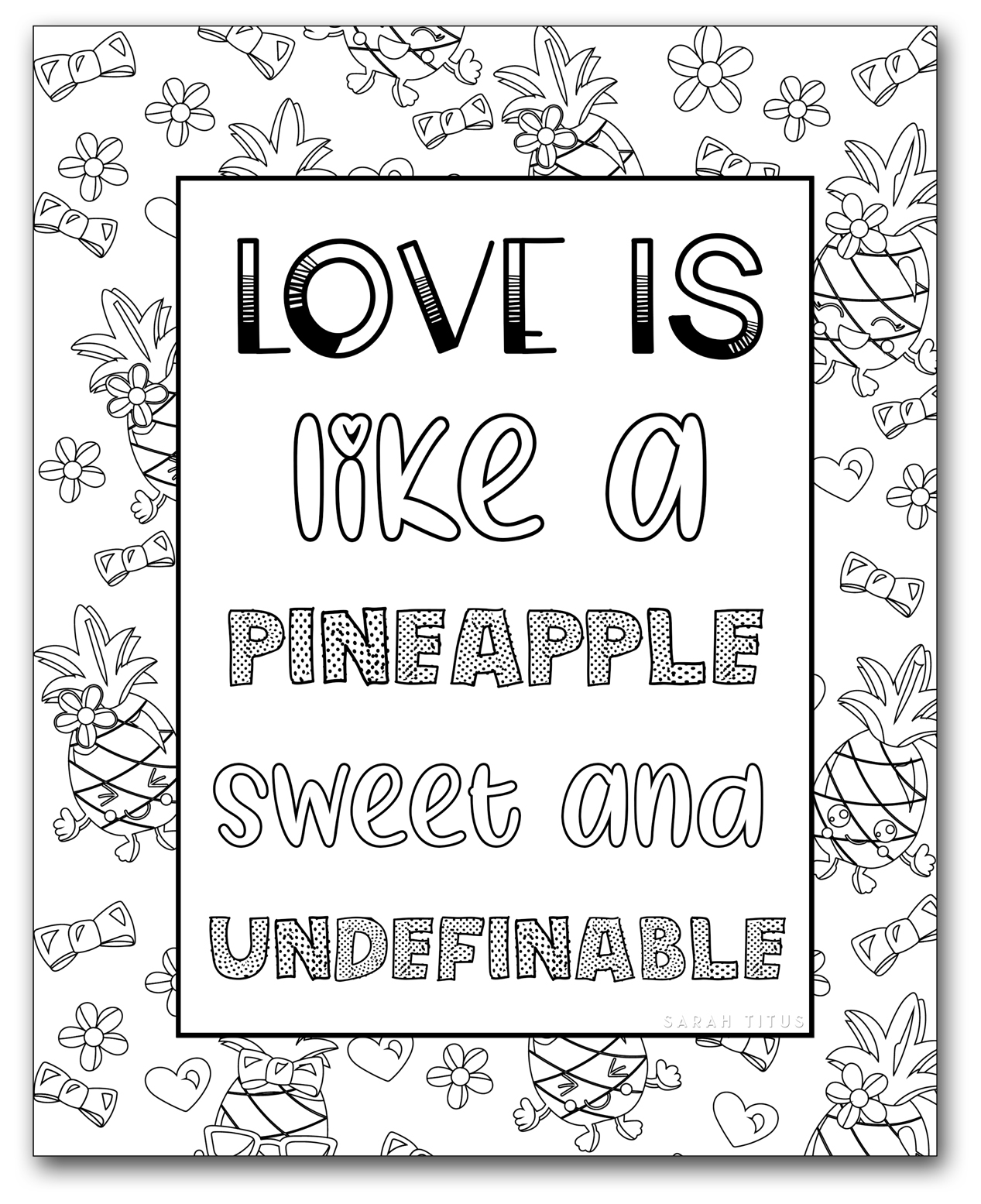Printable Coloring Pages for Girls - Sarah Titus