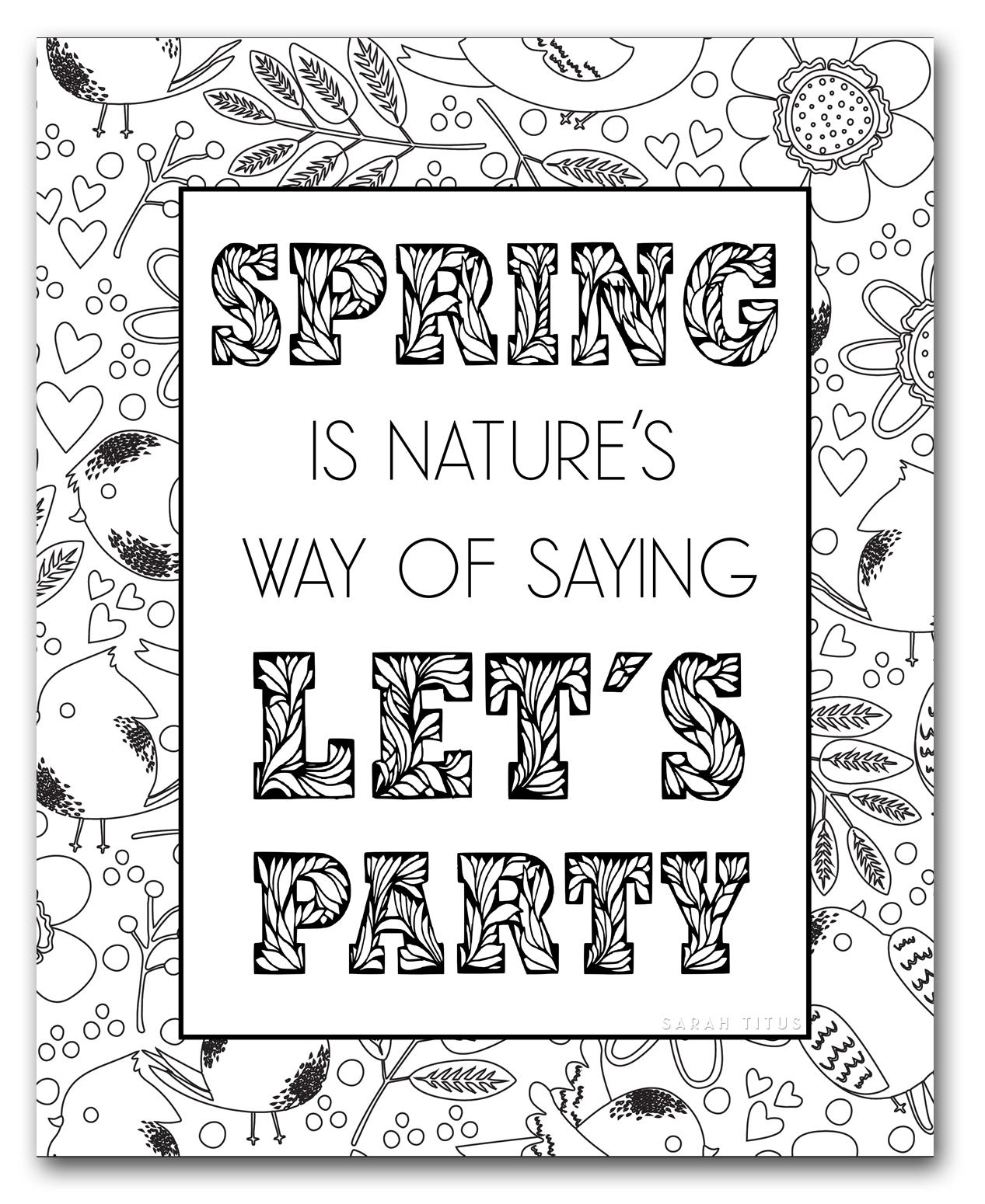 Spring Coloring Sheets - Sarah Titus