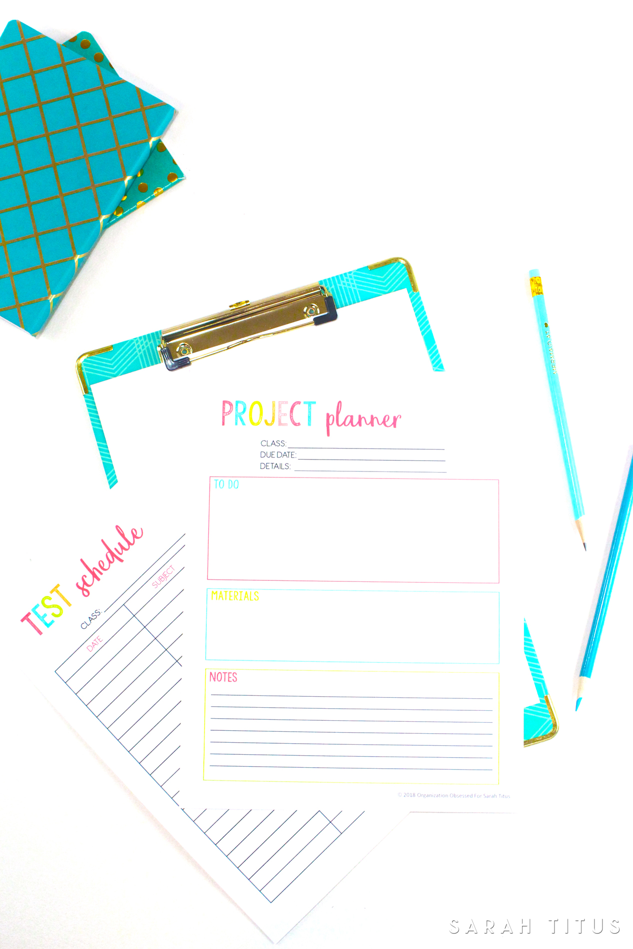 photograph about College Binder Organization Printables identify Totally free Printable Scholar Planner 46 web pages - Sarah Titus