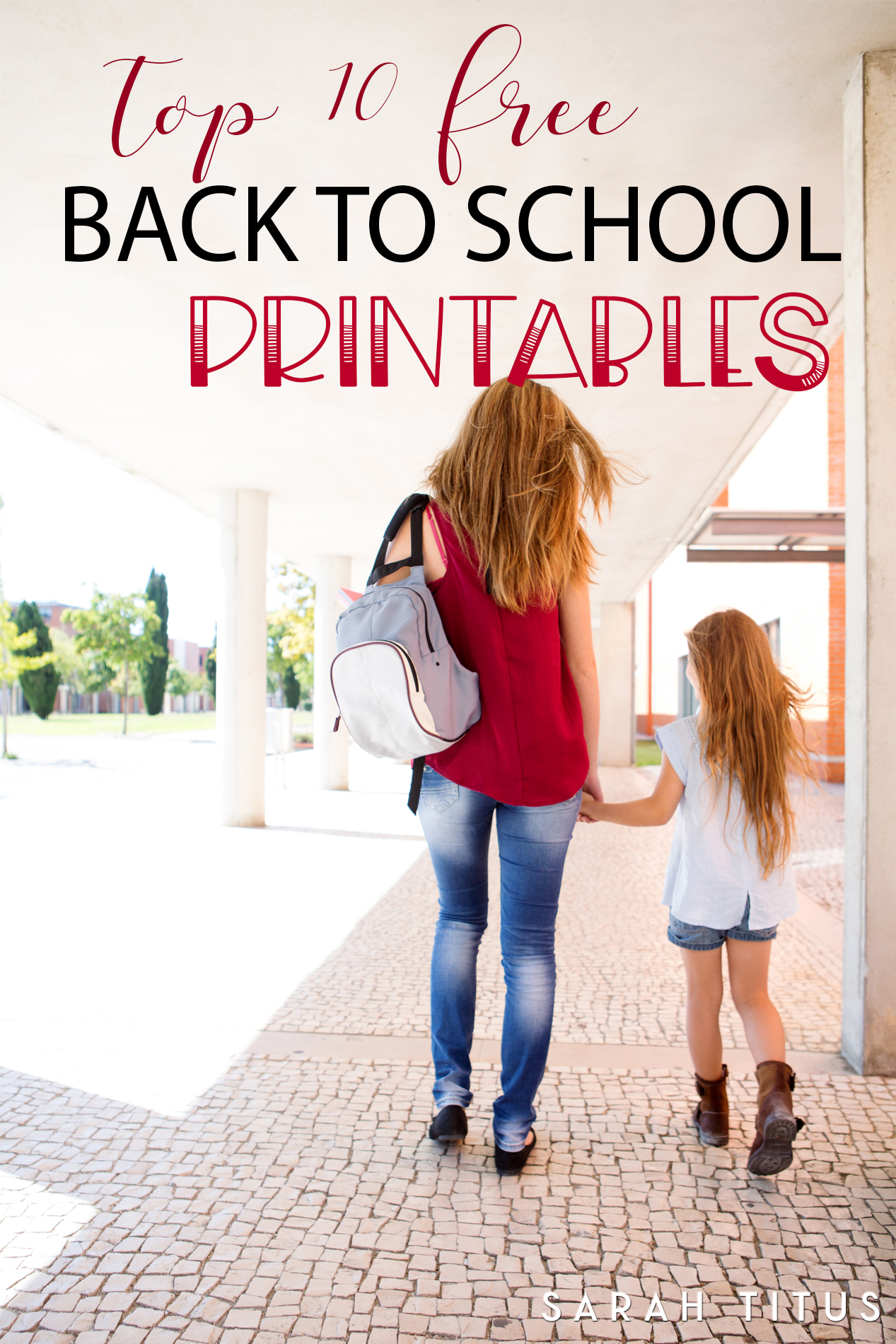 Sending your kids back to school isn't always easy! Especially if they are off to Kindergarten. Create amazing memories this school year with the these Top 10 Free Back to School Printables! #backtoschoolprintables #schoolprintables #freeschoolprintables #freebacktoschoolprintables