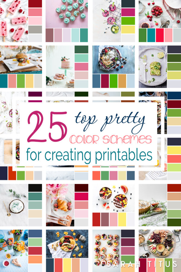 25 Top Pretty Color Schemes for Creating Printables